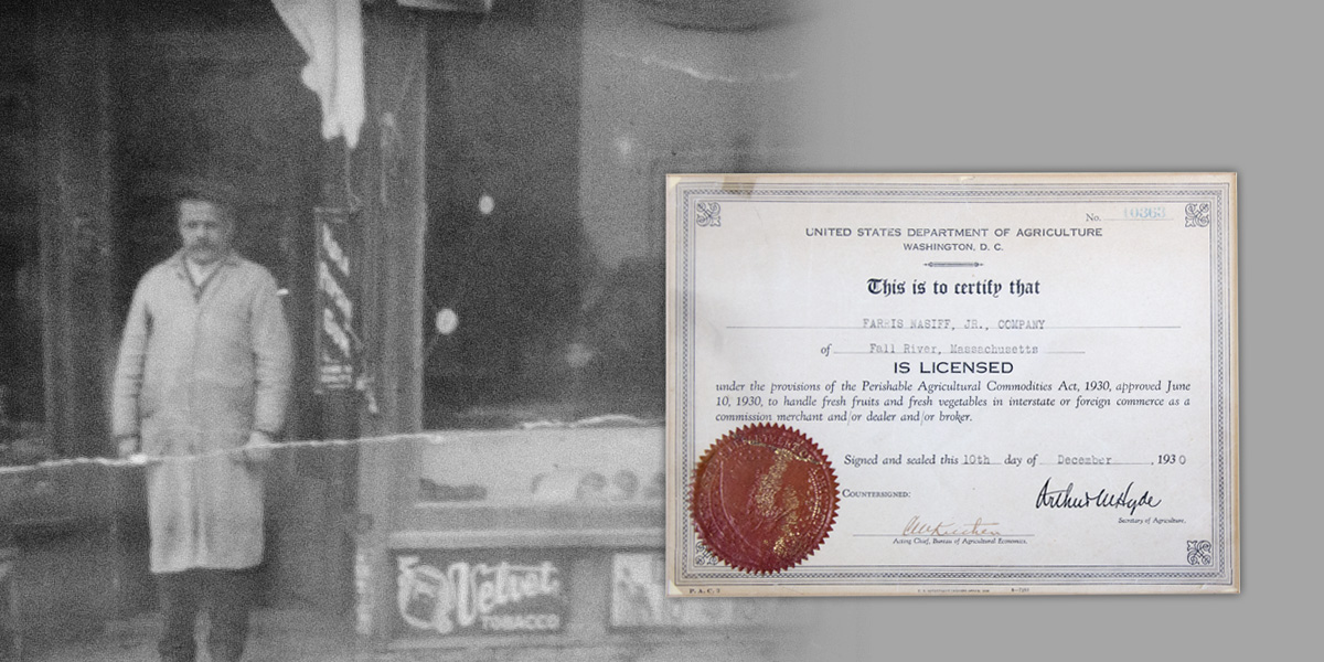 F Nasiff Jr first business license 1929